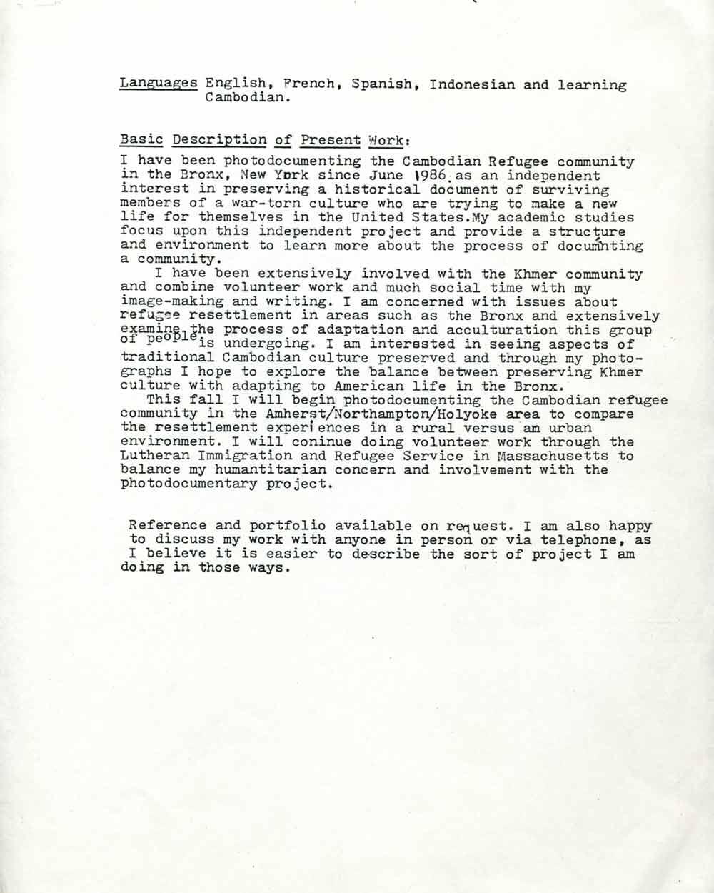 Leah Melnick's Resume, pg 2